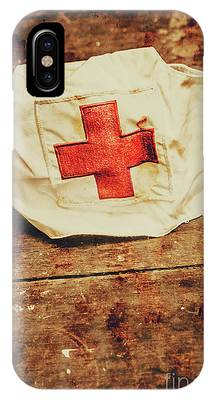 IPhone Case featuring the photograph Ww2 Nurse Hat. Army Medical Corps by Jorgo Photography - Wall Art Gallery