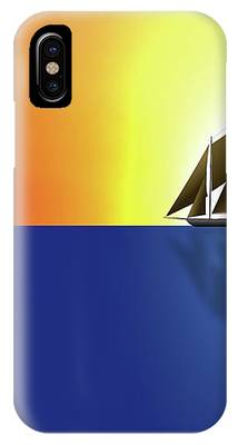Yacht In Sunlight IPhone Case by Michael Goyberg