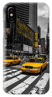 Yellow Cabs Cruisin On The Times Square  IPhone Case