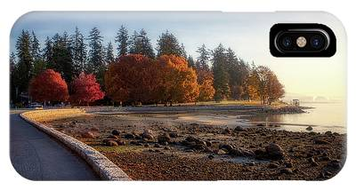 IPhone Case featuring the photograph Colorful Autumn Foliage At Stanley Park by Andy Konieczny