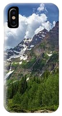 Maroon Bells And Crater Lake Panorama IPhone Case by Andy Konieczny