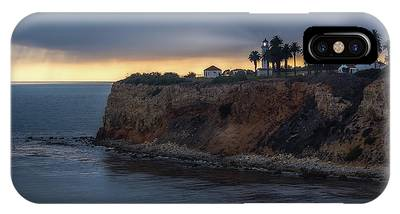 IPhone Case featuring the photograph Point Vicente Lighthouse At Sunset by Andy Konieczny