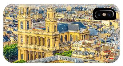 IPhone Case featuring the photograph Saint Sulpice Church Paris by Benny Marty