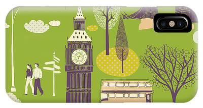 London Wallpaper Iphone X Cases Fine Art America