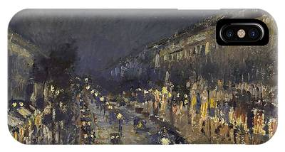 The Boulevard Montmartre At Night IPhone Case