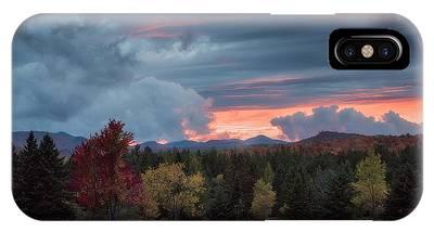 IPhone Case featuring the photograph Adirondack Loj Road Sunset by Brad Wenskoski