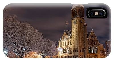IPhone Case featuring the photograph Albany City Hall by Brad Wenskoski