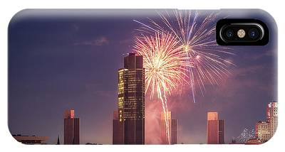 IPhone Case featuring the photograph Albany Fireworks 2019 by Brad Wenskoski