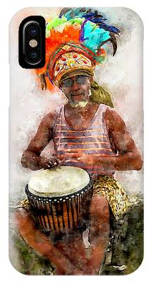 Antiguan Drummer IPhone Case