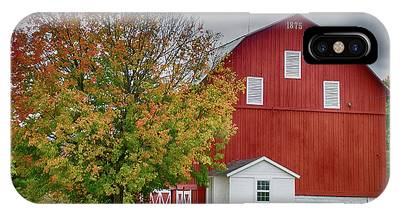 Autumn Red Barn IPhone Case