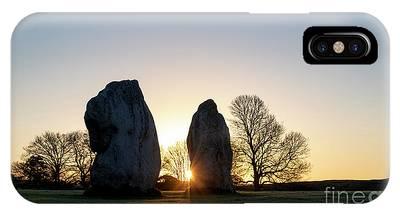 Avebury Stone Circle Sunrise Phone Case by Tim Gainey