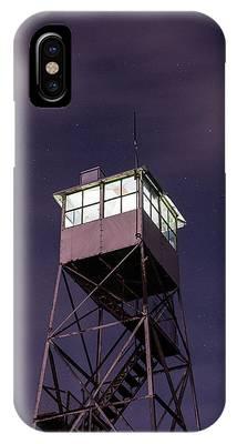 Balsam Lake Mountain Firetower  IPhone Case by Brad Wenskoski