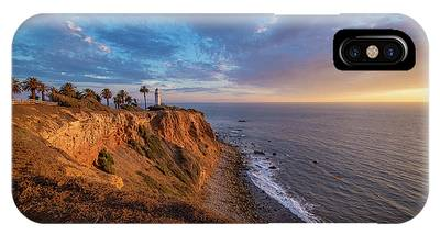 IPhone Case featuring the photograph Beautiful Point Vicente Lighthouse At Sunset by Andy Konieczny