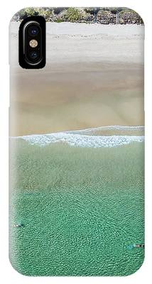 Byron Bay Swimmers IPhone Case by Chris Cousins