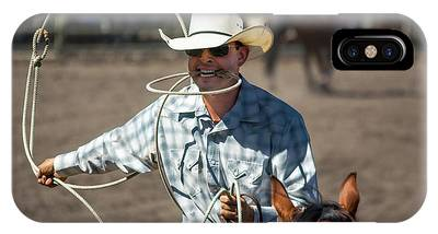 IPhone Case featuring the photograph Calf Roper by Mike Long