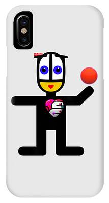 Cat With A Ball IPhone Case