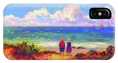 Maine Coast Paintings iPhone Cases