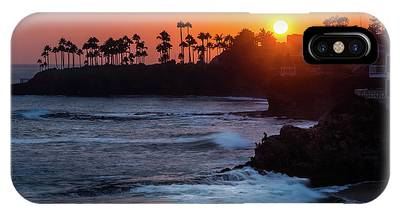 IPhone Case featuring the photograph Colorful Laguna Beach Sunset by Andy Konieczny