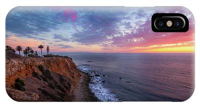 IPhone Case featuring the photograph Colorful Sky After Sunset At Point Vicente Lighthouse by Andy Konieczny