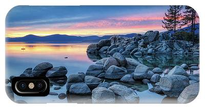 IPhone Case featuring the photograph Colorful Sunset At Sand Harbor by Andy Konieczny