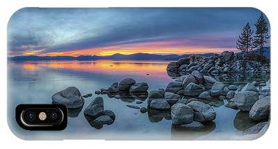 IPhone Case featuring the photograph Colorful Sunset At Sand Harbor Panorama by Andy Konieczny