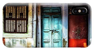 Doors Of India - Blue Door And Red Door IPhone Case