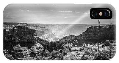 Eagle Rock, Grand Canyon In Black And White IPhone Case