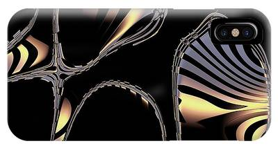 Elegant Black Fractal 1 IPhone Case