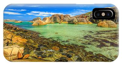 IPhone Case featuring the photograph Elephant Rocks In William Bay by Benny Marty