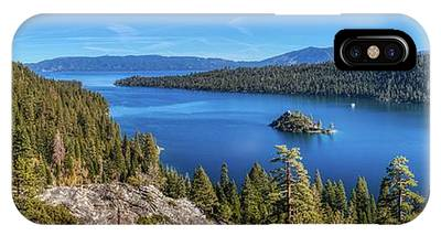 IPhone Case featuring the photograph Emerald Bay And Fannette Island Panorama by Andy Konieczny