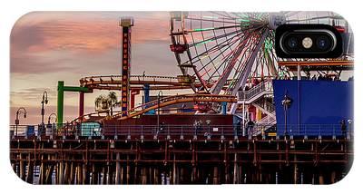 Ferris Wheel On The Pier - Square IPhone Case