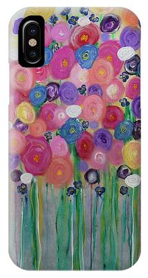 Floral Balloon Bouquet IPhone Case by Kim Nelson