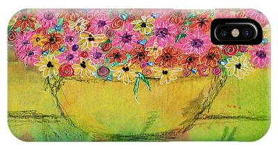 IPhone Case featuring the painting Flowers For Debbie by Kim Nelson