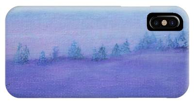 IPhone Case featuring the painting Fog Descending by Kim Nelson