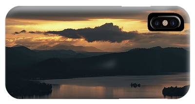 IPhone Case featuring the photograph Fourth Lake First Light by Brad Wenskoski
