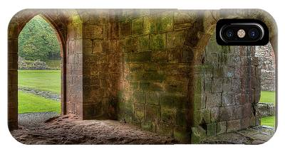 IPhone Case featuring the photograph Furness Abbey Arches by Dennis Dame