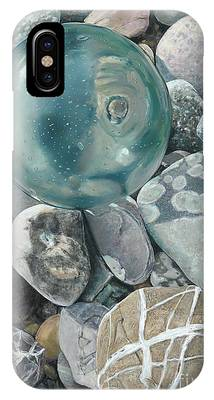 Glass Float And Beach Rocks IPhone Case