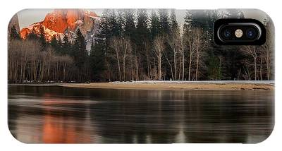 IPhone Case featuring the photograph Half Dome Sunset In Winter by Mike Long