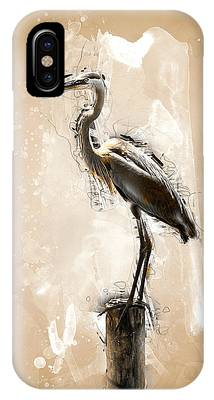 Heron On Post IPhone Case