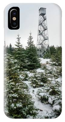 IPhone Case featuring the photograph Hunter Mountain Fire Tower by Brad Wenskoski