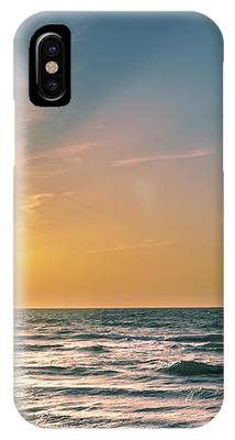 Kitesurfing At Sunset IPhone Case by Michael Goyberg