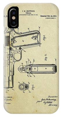 M1911 Browning Pistol Patent IPhone Case