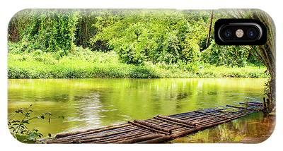 Martha Brae River Bamboo Rafting IPhone Case