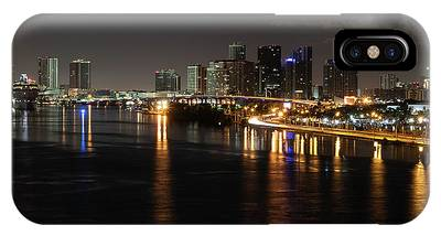 Miami Lights At Night IPhone Case