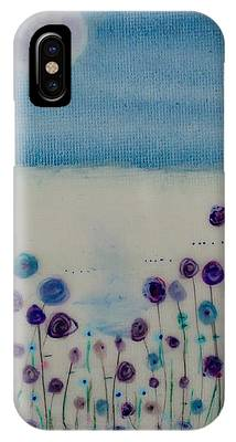 Moonshadow Flower Field IPhone Case by Kim Nelson