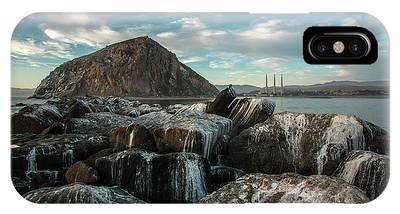 IPhone Case featuring the photograph Morro Rock Breakwater by Mike Long