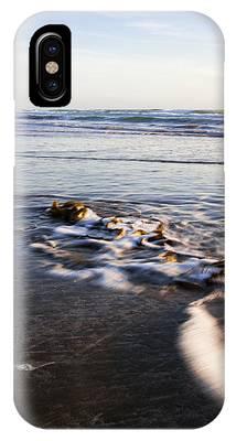 Morro Rock Ebb Tide IPhone Case by Mike Long