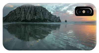 IPhone Case featuring the photograph Morro Rock Sunset by Mike Long