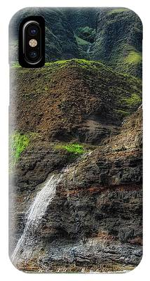 IPhone Case featuring the photograph Na Pali Coast Waterfall by Andy Konieczny