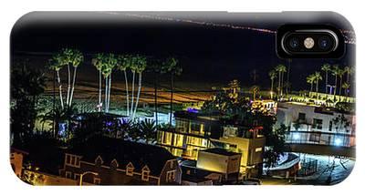 Palisades Park Night - Panorama IPhone Case